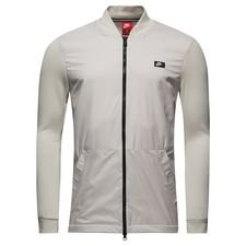 nike track top nsw modern ft - grå - track tops