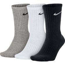 Nike Trainingssokken Value Cotton Crew 3-Pak - Grijs/Wit/Zwart