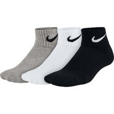 Image of   Nike Ankel Sokker Cushion 3-Pak - Grå/Hvid/Sort