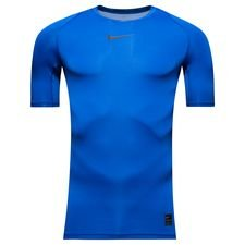 nike pro compression k/æ - blå/sort - baselayer