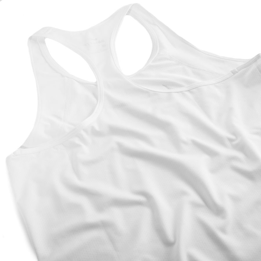 7677d79d4c8f98 nike pro tank top - white black woman - baselayer