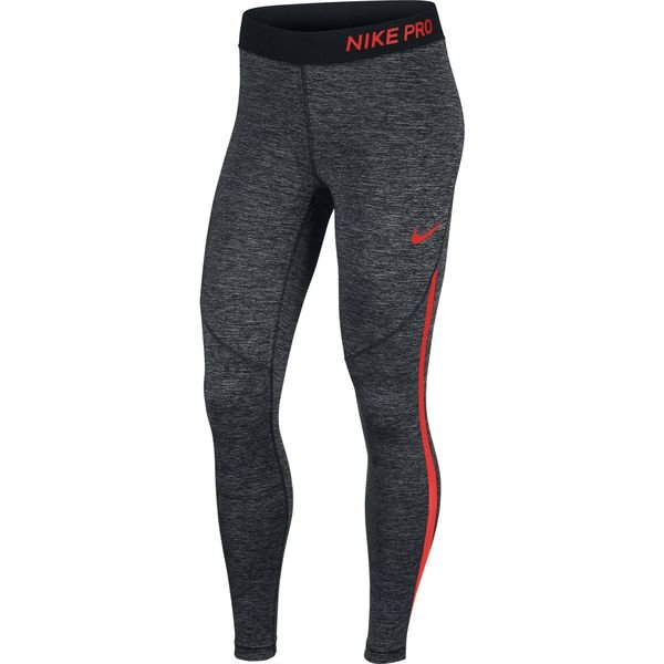 nike pro hypercool tights - grå/rød dame - baselayer