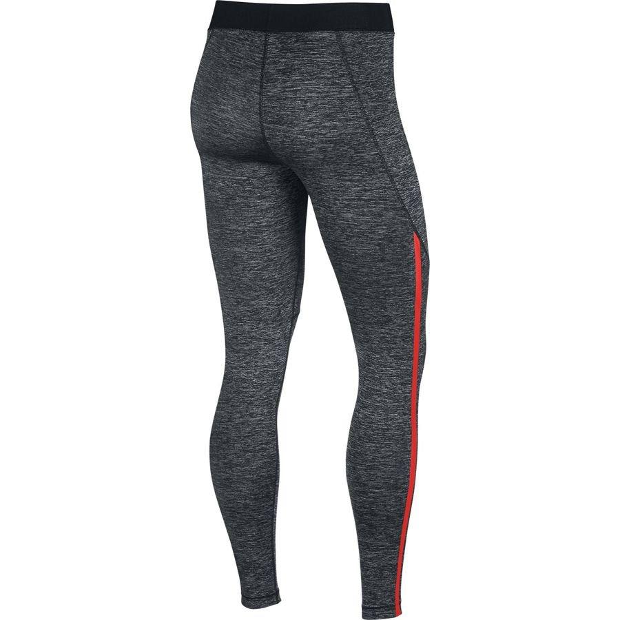 68f042ebf38acd Nike Pro Hypercool Tights - Heather Black/Red Woman   www.unisportstore.com