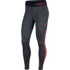 nike pro hypercool tights - heather black/red women - baselayer