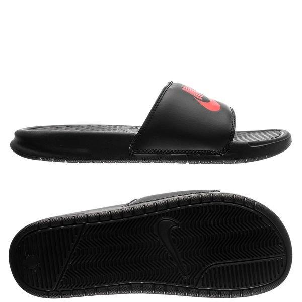 40d3c108e7a Nike Slide Benassi JDI - Black Game Red White
