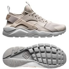 nike air huarache run ultra - grå/beige - sneakers