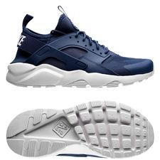 nike air huarache run ultra - navy/hvid - sneakers