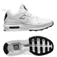 nike air max prime - hvid/grå/sort - sneakers