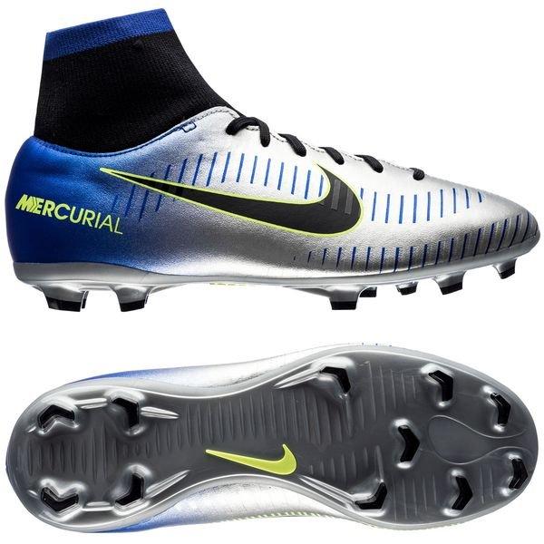 outlet skate shoes detailed pictures Nike Mercurial Victory VI DF FG NJR Puro Fenomeno - Racer Blue/Black/Chrome  Kids