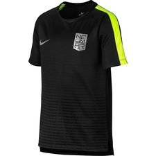 nike training t-shirt dry squad njr puro fenomeno - black/volt kids - training tops
