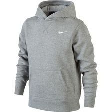 nike hoodie fleece ya76 - grey heather/white kids - hoodies