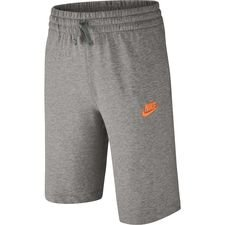 nike shorts nsw - grå/hvid børn - træningsshorts