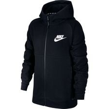 nike hoodie fz nsw advance 15 - black/white kids - hoodies