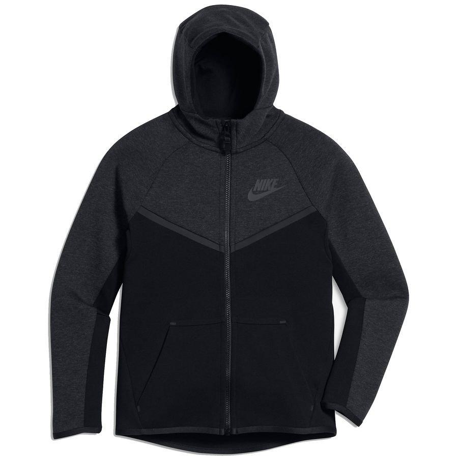 1e336aef2d68 Nike Kapuzenjacke NSW Tech Fleece - Schwarz Grau Kinder   www ...