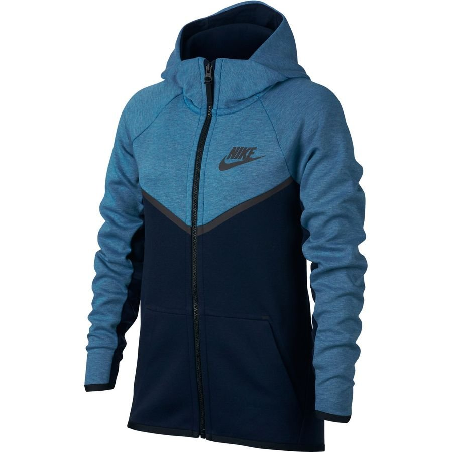 5bea3d57a7ed nike kapuzenjacke nsw tech fleece - blau grau kinder - hoodies ...
