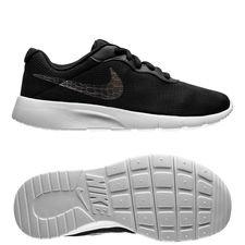 nike tanjun - sort/sølv/hvid børn - sneakers