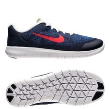 nike free rn 2017 - obsidian/university red/racer blue kids - running shoes