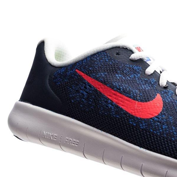 Nike Free RN 2017 ObsidianUniversity RedRacer Blue Kids