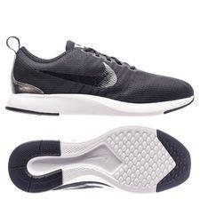nike dualtone racer - black/metallic silver kids - sneakers