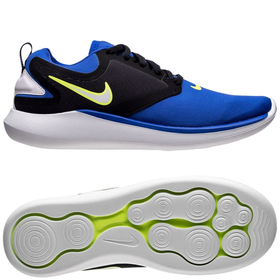 61a32e882e6a nike running shoe lunarsolo - racer blue white black kids - running shoes  ...