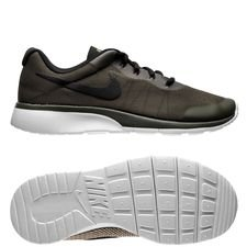 nike tanjun racer - cargo khaki/black/light bone kids - sneakers