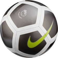 nike football pitch premier league - metallic hematite/white/volt - footballs