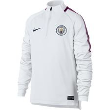 manchester city training shirt dry squad drill - white/true berry kids - training tops