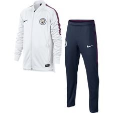 Manchester City Trainingspak Dry Squad Knit - Wit/Navy Kinderen