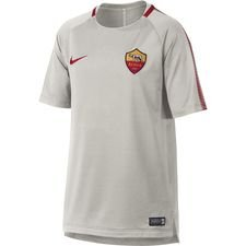 as roma training t-shirt breathe squad - light bone/team crimson kids - training tops