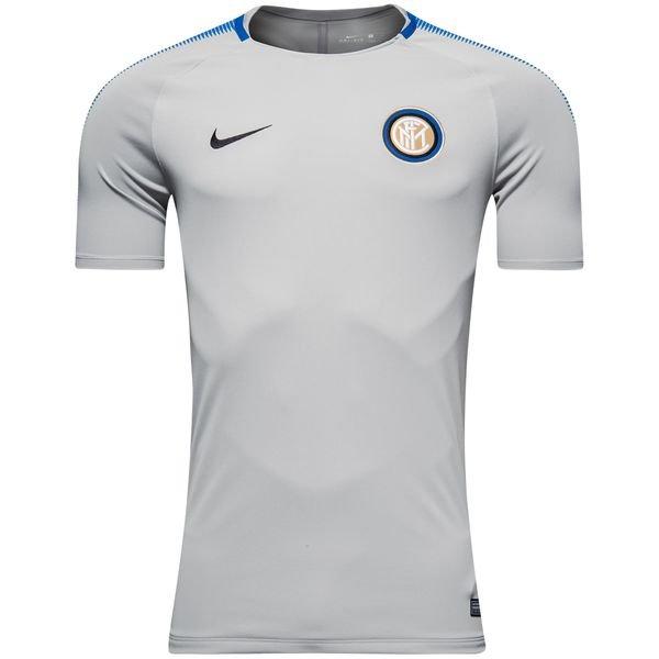 inter trænings t-shirt breathe squad - grå/blå - træningstrøjer