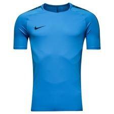 nike trænings t-shirt breathe squad - blå/navy - træningstrøjer