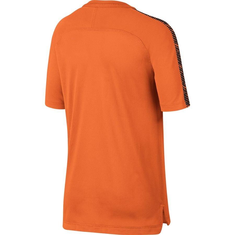 nike t shirt d 39 entra nement breathe squad orange noir enfant. Black Bedroom Furniture Sets. Home Design Ideas