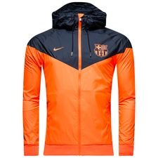 barcelona windrunner woven authentic - hyper crimson/obsidian - jackets
