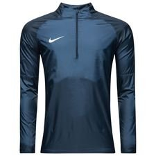 nike training shirt shield drill top academy 18 - obsidian/white - training tops