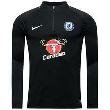 chelsea training shirt dry squad drill - black/rush blue/white - training tops
