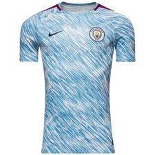 manchester city trænings t-shirt dry squad gx - blå/lilla - træningstrøjer