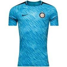 inter trænings t-shirt dry squad gx - blå/sort - træningstrøjer