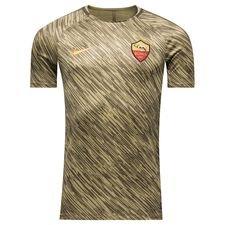 as roma trænings t-shirt dry squad gx - grøn/guld - træningstrøjer