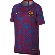 barcelona trænings t-shirt dry squad gx - rød/guld børn - træningstrøjer