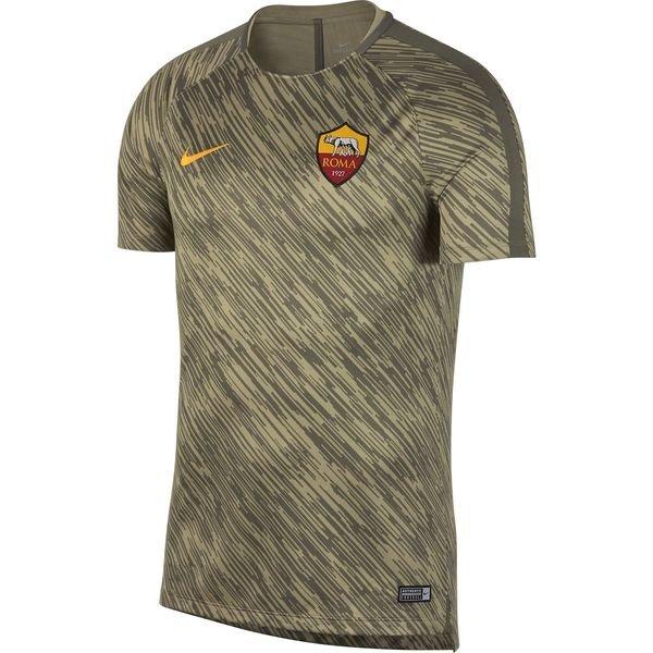 as roma trænings t-shirt dry squad gx - grøn/guld børn - træningstrøjer