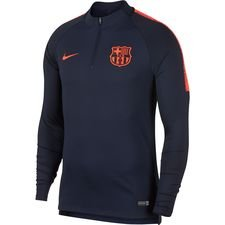 barcelona training shirt dry squad drill - obsidian/hyper crimson kids - training tops
