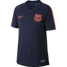 Barcelona Tränings T-Shirt Breathe Squad - Navy/Orange Barn