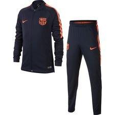 Barcelona Trainingspak Dry Squad Knit - Navy/Oranje Kinderen
