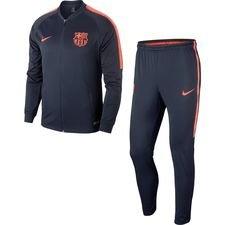 Barcelona Trainingspak Dry Squad Knit - Navy/Oranje