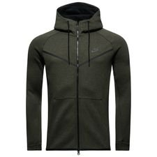 nike tech fleece windrunner fz - grøn/sort - jakker