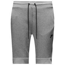 nike shorts tech fleece - heather/black - shorts
