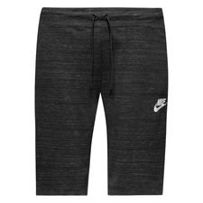 nike shorts nsw advance 15 knit - black/heather/white - shorts