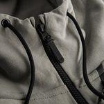 nike jakke nsw tech fleece hd - grå/sort - jakker