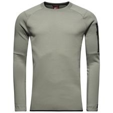 nike sweatshirt nsw tech fleece crew - grå/sort - sweatshirts