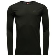 nike t-shirt nsw bnd l/s - sequoia/black - t-shirts
